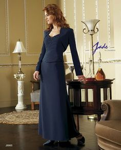 Jade 12 Navy beaded long 2 piece Special Occasion