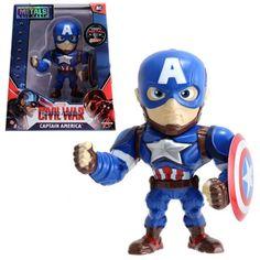 Captain America: Civil War Captain America Action Figure - Jada Toys - Captain America - Action Figures at Entertainment Earth