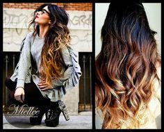 26 Clip In Hair Extensions / SUNRISE OMBRE / Brazilian door Miellee, $295.00