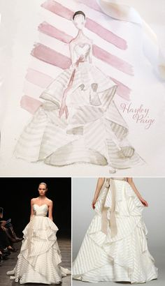 Hayley Paige Spring 2014 wedding gown illustration | Atelier Isabey