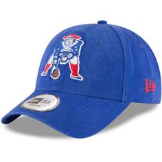 New England Patriots New Era Throwback Logo Legacy Relaxed 49FORTY Fitted Hat - Royal - $27.99