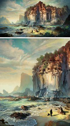 TERA Environment Concept Art by Kim Hyeong Seung