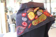 gefilzt...Detail Schal