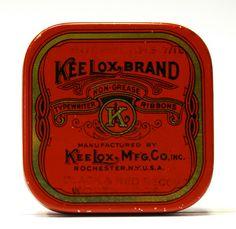 Antique KeeLox Brand Typewriter Ribbon Tin