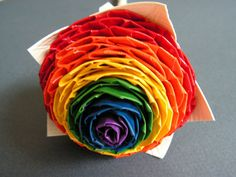 Rainbow Duct Tape Rose by QuirkyQrafts on Etsy, $15.00