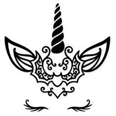 Silhouette Design Store - Product ID unicorn Cricut Stencils, Cricut Vinyl, Unicorn Outline, Halloween Embroidery, Unicorn Halloween, Unicorn Face, Cricut Creations, Vinyl Crafts, Cute Cartoon Wallpapers