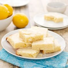 Lemonies {Lemon Brownies} {Sweet Pea's Kitchen} ... These are lemon brownies ... NOT the traditional lemon BAR.