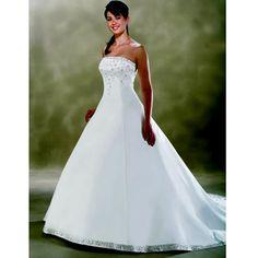 White Petite-Plus Size Maternity Simple Wedding Dresses Bridal Gowns SKU-118094