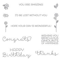 Cottage Greetings Clear-Mount Stamp Set by Stampin' Up!