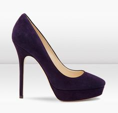 Jimmy Choo - Purple Suede Platform. Can I have a pair in every color please