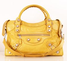 BALENCIAGA SATCHEL: Hello Yellow