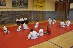 Aikido Kindertraining Linz Juni 2013: Kinderkyuprüfungen, Kinder und Prüfungskommission nach der Prüfung