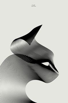 Tiere in Moiré 3 von Andrea Minini – Journal du Design - kunst illustration Illustration Design Graphique, Art Graphique, Illustration Art, Animal Illustrations, Vector Illustrations, Op Art, Graphisches Design, Line Design, Flow Design