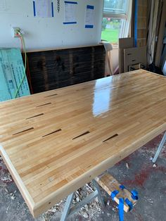 Semi-gloss on a Bowling Alley Kitchen Island | 003 Kitchen Island w/ Arrows Bowling Party Themes, Home Bowling Alley, Arrows, Repurposed, Kitchen Island, Tables, Woodworking, Inspiration, Furniture