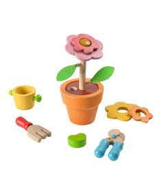Flower Set by Plan Toys... This is so cute!