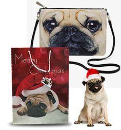 PUG LOVERS CHRISTMAS SPECIAL OFFER  ladies pug bag & large pug Christmas gift bag both £22/$30USD/€24 at www.ilovepugs.co.uk  while stocks last post worldwide