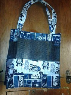 Star Wars Beach Bag. See Through. Easy Clean. One Of A Kind. Shoulder Tote. Mother/Daughter Set. Handmade. by MissAmandaMadeIt4Me on Etsy #StarWars #BeachBag #FashionGeek #BB8 #R2D2 #C3PO #Celebration #MotherDaughterSet #TheseAreTheDroidsYoureLookingFor #BeachBag #HaveToHave