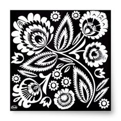Set of 20 decorative paper napkins done in traditional Polish folk art design. The art of Wycinanki, or Polish paper cuttings, comes from a centuries-old trad