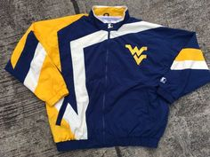 adcf6de2376f Vintage Starter West Virginia Mountaineers WVU Windbreaker Jacket 90s