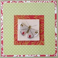 Card with wireworked butterfly. Design Peppina.