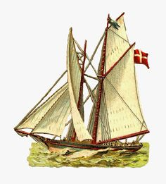 Dover Clip Art Old Fashioned Boat