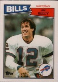 Jim Kelly rookie card; part of our list of the top football rookie cards of the 1980s.