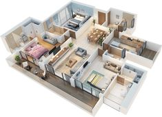 Experience world class comforts at Bluegrass Residences. Floor plans for & homes in Pune. Sims House Plans, House Layout Plans, Small House Plans, House Layouts, House Floor Plans, Home Design Floor Plans, Home Building Design, Sims House Design, Small House Design