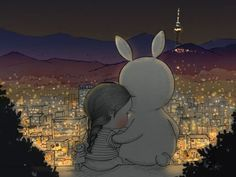 I often think that the night is more alibe and more richly colored than the day. Cute Disney Drawings, Cute Drawings, Illustration Art Drawing, Bunny Art, Amazing Drawings, Moon Art, Disney Wallpaper, Cute Wallpapers, Cute Art