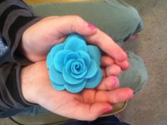 Rose made from play-doh