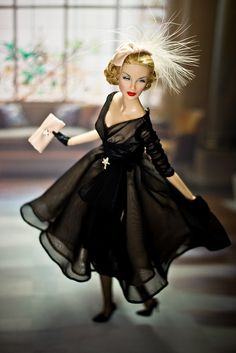 """Lana Turner Dior 8 by Jurrie de Vries, via Flickr She's dressed in """"Midnight Mischief"""" Barbie Silkstone outfit...Perfect!!! I'd like her sooo much that I'd like to get my own Lana Turner!"""