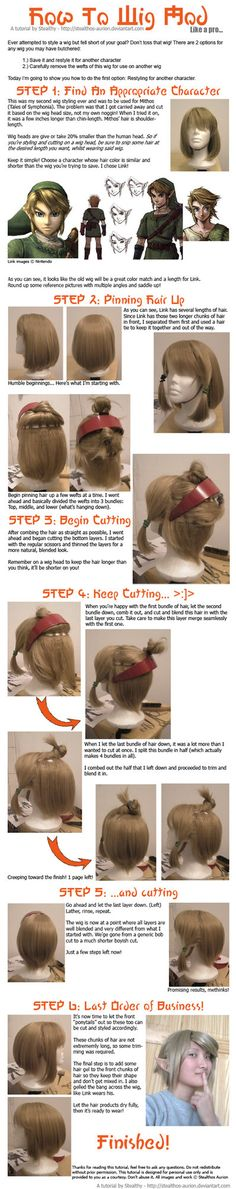 Need to create a wig for Link (Legend of Zelda series)? My tutorial will show you how to style your wig (or save one you butchered).
