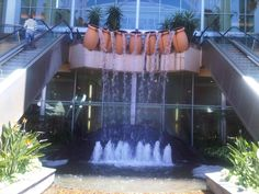 Water feature outside Gateway Theatre of Shopping - Umhlanga Ridge - Durban Kwazulu Natal, Water Features, Beautiful Beaches, South Africa, Theatre, Travel, Shopping, Water Sources, Viajes