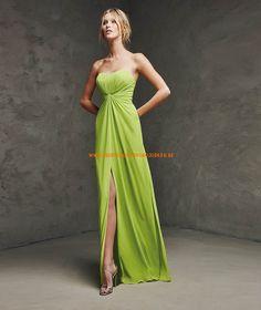 Lange Gaas jurk met liefje hals voor een bruiloft of een speciale feest