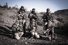 Belgian Special Forces Group before a desert training exercise around '07.[3.888x2.592]