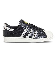 new concept a3d29 104cc ADIDAS - Superstar 80s snake-embossed leather trainers Svarta Sneakers, Skor  Sneakers