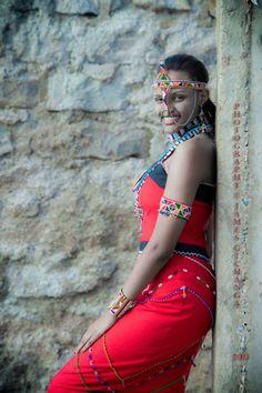 Maasai dress adowned by a beautiful Maa girl