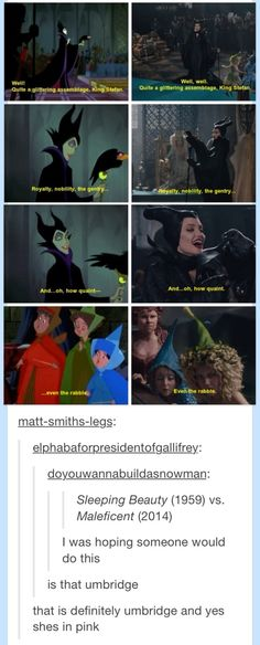 Sleeping Beauty (1959) vs Maleficent (2014)