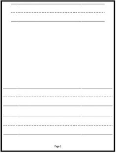free kindergarten writing paper template show and tell classroom