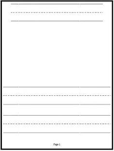 Classroom Freebies: Kindergarten Writing Paper!