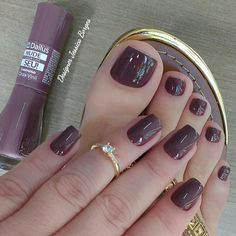 Super Ideas For Nails Burgundy Design Style Gelish Nail Colours, Manicure Colors, Gelish Nails, Manicure And Pedicure, Toe Nails, Classy Nails, Trendy Nails, Perfect Nails, Gorgeous Nails