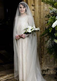 #DowntonAbbey Lady Mary (Michelle Dockery)  wedding dress #GG #costume