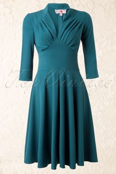 abb2ae124dd Miss Candyfloss 50s Vedette Turqouise Swing dress