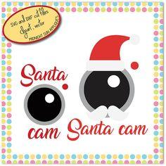 Santa cam SVG DXF clipart santa cam cut file christmas