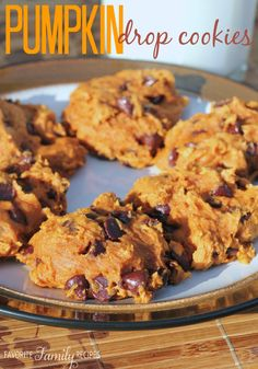 These pumpkin drop cookies turned out delicious and I love that they are low-fat and packed with vitamins from the pumpkin!