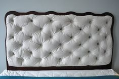 DIY Bett Kopfteil   Die Knöpfe Der Reihen Nach Annähen    Ottomans,chaise+benches   Pinterest   Ottomans, Bench And Shabby