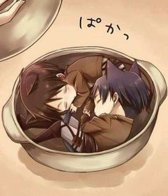 Adorable Levi and Eren catboys