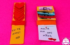 Cartão deslizante para datas comemorativas como dia das mães, dia dos pais, dia dos namorados, Pascoa e Natal. #clubedaaninha #anapink #diy #diadasmães #diadosnamorados #Pascoa #Natal #diy #artesanato #manualidades