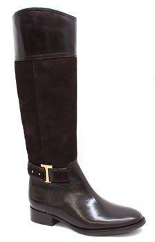 Tory BurchTenley Brown Leather and Suede Riding Boot