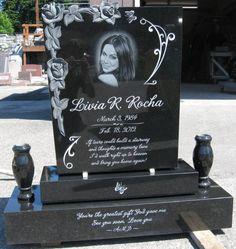 Custom Grave Marker & Diamond Etch portrait