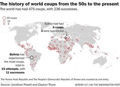 Map: The world of coups since 1950 - The Washington Post